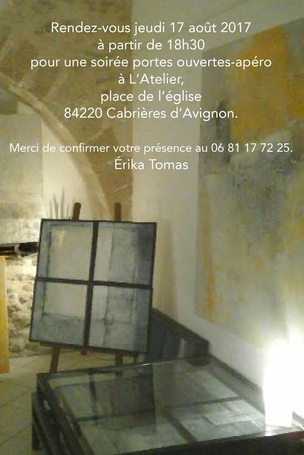 Portes ouvertes de l 39 atelier erika tomas - Atelier chardon savard portes ouvertes ...